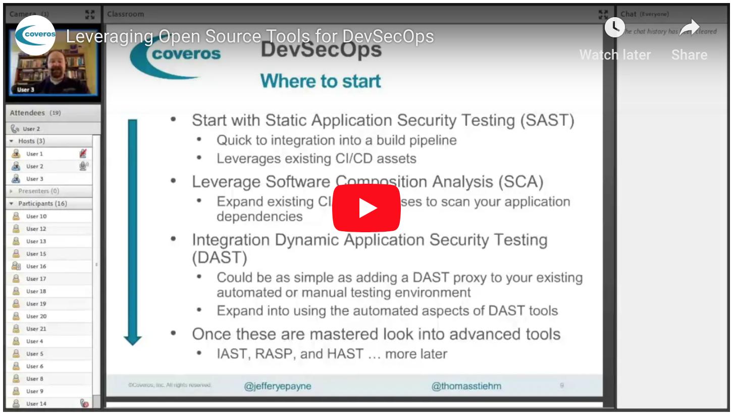 Leveraging Open Source Tools for DevSecOps web seminar
