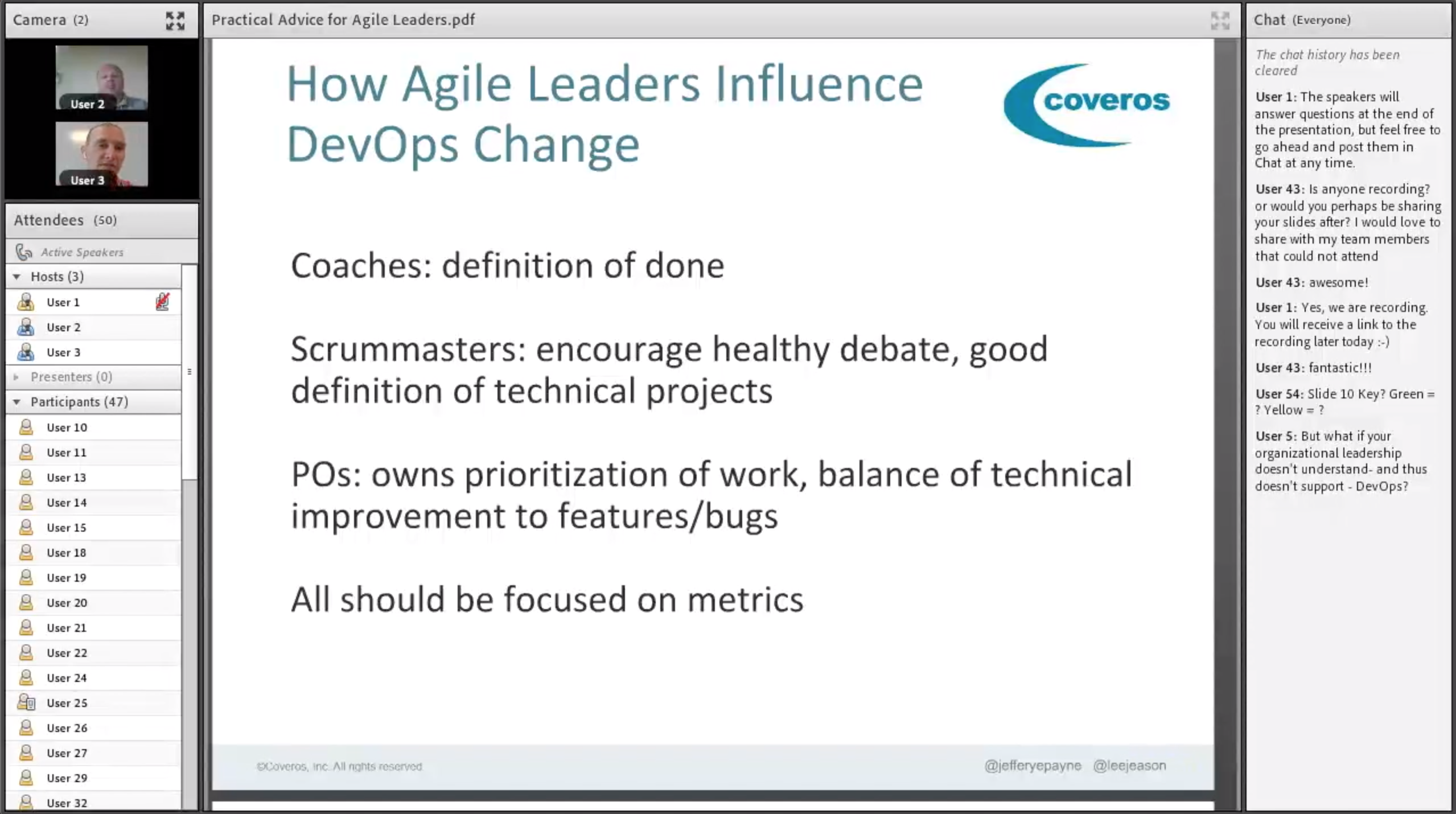 Practical Advice for Agile Leaders During DevOps Transformations web seminar